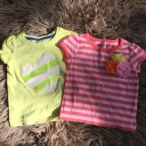 4/$25 - Crazy 8 cotton summer tees - size 6-12M